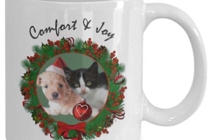 christmas pet mugs